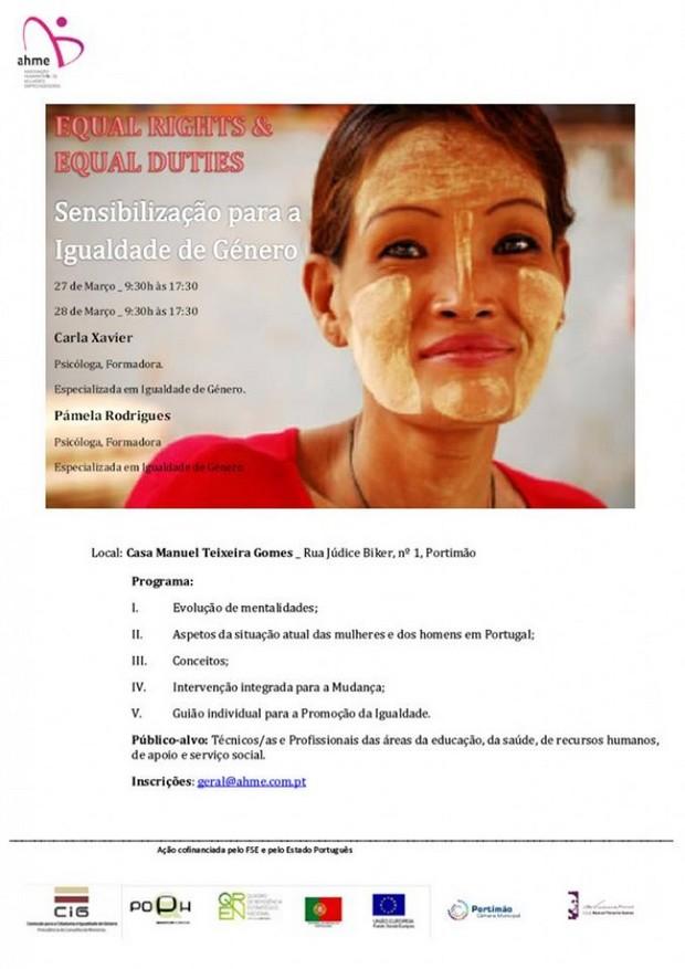 Seminários de sensibilização sobre a igualdade de género e o combate ao tráfico de seres humanos e à violência doméstica