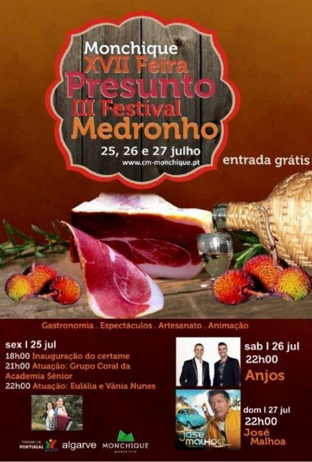Cartaz da XVII Feira do Presunto e III Festival do Medronho em Monchique
