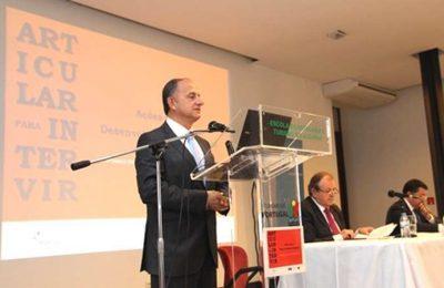 Eng David Santos - CCDR Algarve na apresentação dos resultados do ARTICULAR PARA INTERVIR