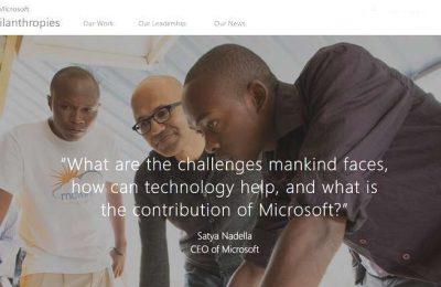A Microsoft Philanthropies vai doa mil milhões em serviços cloud a ONG´s | Cred_Microsoft