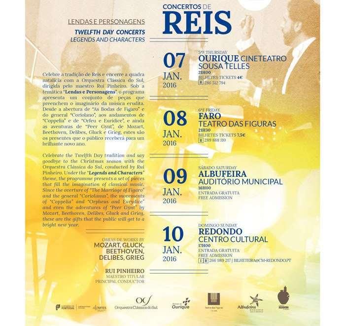Orquestra Clássica do Sul, concertos de Reis
