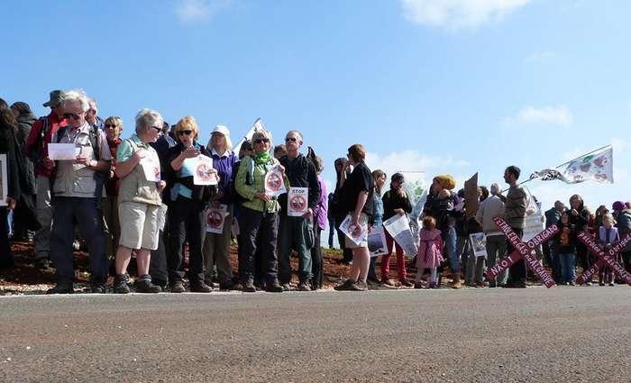 Protesto contra a exploração de Petróleo no Algarve
