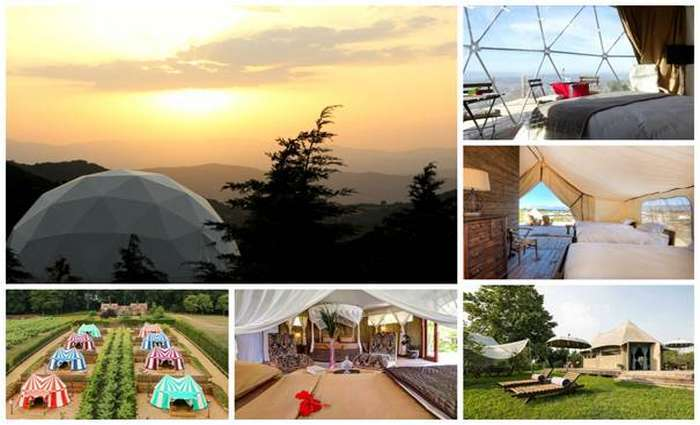 Glamping o conceito que conjuga glamour e camping