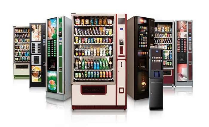 Seleção de alimentos nas máquinas de venda automática