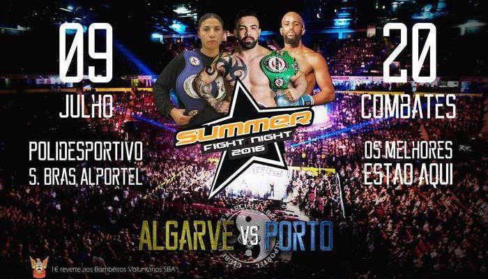 Gala SUMMER FIGHT NIGHT em São Brás de Alportel