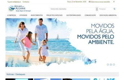 Águas do Algarve anunciou o lançamento de novo website