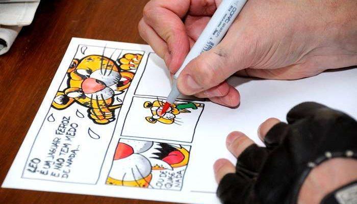 João Mascarenhas cria livro de BD com alunos de Altura