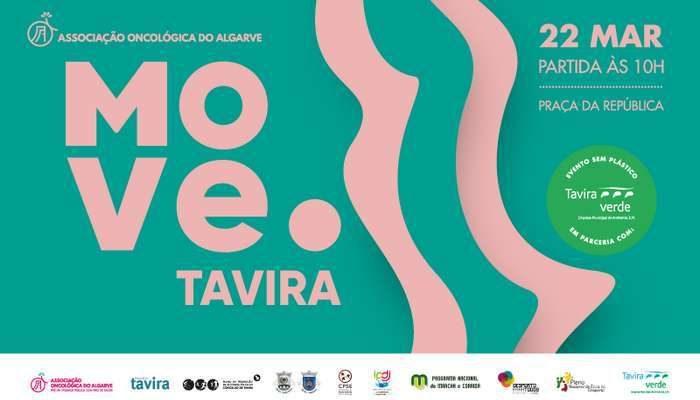 """O evento """"MOVE.Tavira"""" organizado pela Associação Oncológica do Algarve (AOA), não se irá realizar a 22 de Março, foi adiado para 26 de Abril, domingo."""