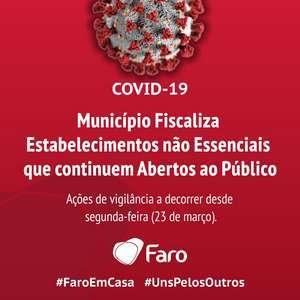 O Município de Faro deu esta segunda feira, inicio a uma operação de vigilância e fiscalização em articulação com as autoridades, junto de estabelecimentos não essenciais do concelho, que continuam a atender o público, apesar do estado de emergência em vigor no País.