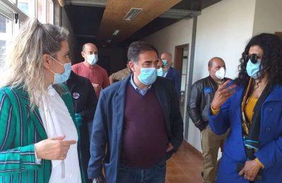 José Apolinário, secretário de Estado das Pescas e coordenador na região do Algarve do combate à Covid-19, visitou na sexta feira o campus do Instituto Piaget em Silves, convertido nesta fase da pandemia, em Zona de Apoio à População (ZAP).
