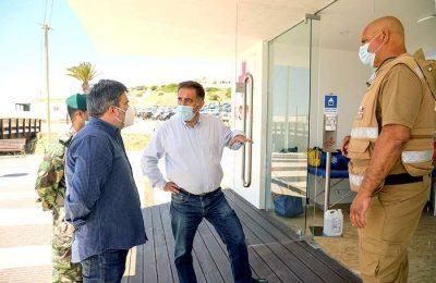 José Apolinário visitou as praias do concelho de Lagos