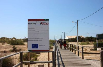 Avança a obra do Passadiço da Praia de Altura