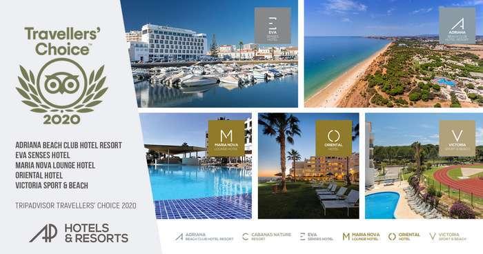 Premiados cinco Hotéis do grupo AP Hotels & Resorts