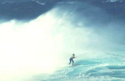 Michelle des Bouillons surfou a onda grande da Baixa da Viola